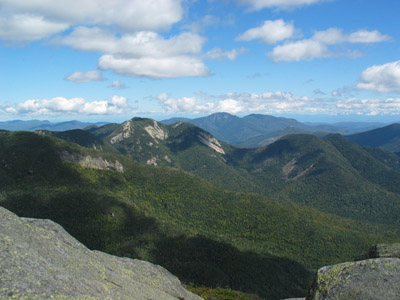 View to the east from Mount Haystack's summit in New York's Adirondack Park