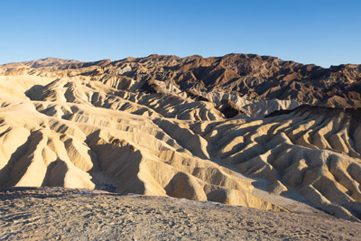 The view from Zabriskie Point in Death Valley National Park