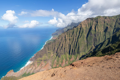 Kauai's Napali Coast from the Honopu Ridge Trail. November 8, 2018.