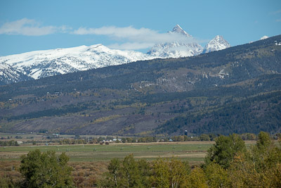 The Grand Teton from 20 miles away in Victor, Idaho